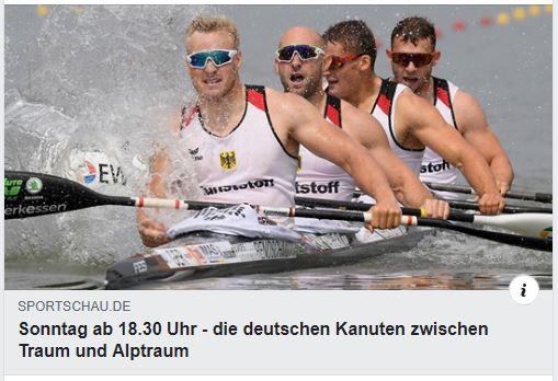Die deutschen Kanuten zwischen Traum und Alptraum – der 45 Minuten Beitrag über die Olympiavorbereitung auf Tokio in der ARD Sportschau vom 05.04.2020